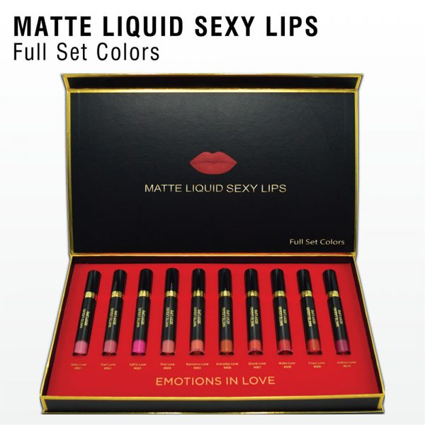Top White Full Set Color Matte Liquid Sexy Lips