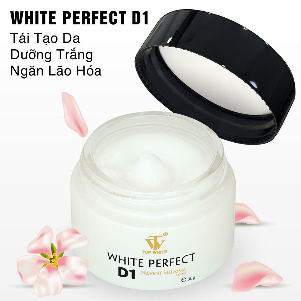 Kem dưỡng trắng da ngừa nám tàn nhangWhite Perfect D1