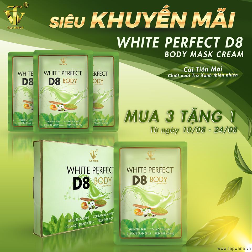 Top White khuyến mãi kem ủ trắng D8